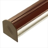 BROWN 2.5M COROTHERM GLAZING BAR WITH END CAP