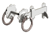GATEMATE TWISTED RING LATCH GALV