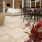 OLD TOWN 8.8m² PATIO PACK WITH SLATE EDGING