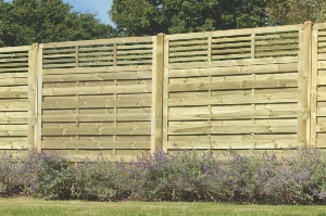 ELITE SLATTED TOP PANELS 1.8 MTR X 1.8 MTR