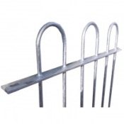 0.9 M HIGH 12MM BAR BOW TOP RAILINGS