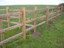3 RAIL LINCS FENCING WITH S/W RAILS