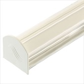 WHITE 2.5M COROTHERM GLAZING BAR WITH END CAP